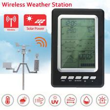 Professional Wireless Wind Solar Weather Station Digital Temperature Forecast HQ