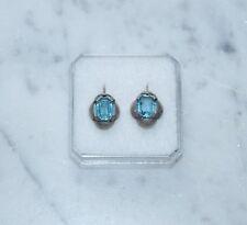 ❤❤❤  Antike Ohrringe aus Silber 800 mit Schmuckstein ~ 1920  ❤❤❤  (# 7018)