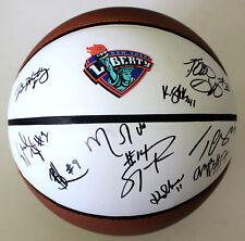 2018-19 New York Liberty Team Signed Basketball w/COA Tina Charles Katie Smith A