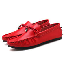 Men's Casual Driving Loafers Leather Gommino Moccasins Slip On Shoes Plus Size