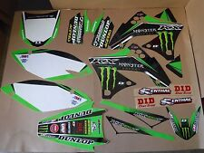 D COR TEAM MONSTER  KAWASAKI GRAPHICS &  # Plates KX450F KXF450  2009 2010 2011