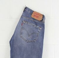 Vintage LEVI'S 501 Regular Straight Fit Men's Blue Distressed Jeans W32 L30