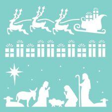 Kaisercraft Template/stencil 12x12 Template - Christmas Strip T626 Nativity