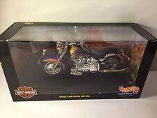Hot Wheels  1:10 Harley Davidson Softail Purple w Flames