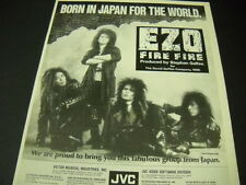 Ezo Born In Japan For The World 1989 Promo Poster Ad from Fire Fire mint