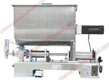 sauce paste filling machine for chilli sauce,piston filler with mixer hopper