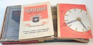 LOT OF 4 VINTAGE SWARTCHILD PAULSON WATCHMAKER REPAIR PARTS CATALOGS