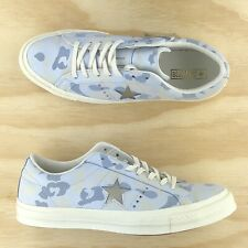 Converse One Star Ox Light Blue White Camouflage Womens Shoes 159704C Size 10