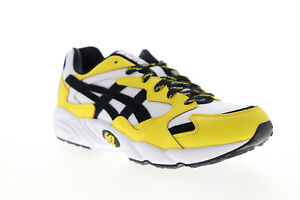 Asics Gel Diablo 1191A129-100 Mens White Yellow Lifestyle Sneakers Shoes 8