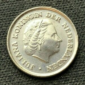 1972 Netherlands 10 Cents coin UNC     World Coin nickel         #K1604