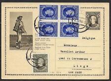 Slovakia 1940 uprated special PC Nitra to Liege
