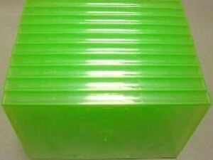 10 SINGLE GREEN CD/DVD CASES, EX DISPLAY / REPLACEMENT AMARAY COVERS