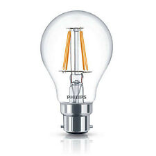 5 X Philips LED 4w Vintage Filament Light Globes / Bulbs B22 Bayonet BC A60