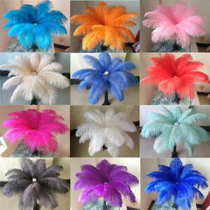 Wholesale 10-100 pcs high-quality natural ostrich feathers 6-24 inch/15-60cm