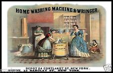 Antique Home Washing Machine Victorian Advertisement Fine Art Print Poster