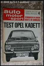 AMS Auto Motor Sport 4/66 Opel Kadett Matra Bonnet Djet 5 Ferrari Dino