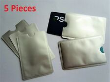 5 X RFID BLOCKING SECURE SLEEVE CREDIT CARD PROTECTOR ANTI THEFT SCAN SAFE