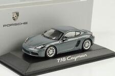 Porsche 911 718 2016 Caïmans Graphite Bleu Métallique 1:43 Minichamps Diecast