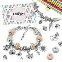 Cheer4bee Girls Charm Bracelet Making Set - Nice Gifts for Girls, Present for