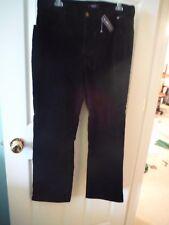 CHAP'S BLACK CORDUROY PANTS 98% COT - SIZE 12 SHORT -NWT- $59.00