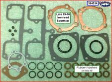 Top End Gasket Kit, L73-76 Ironhead Sportster rubber P/R, copper HG ref.17030-73