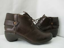 Merrell Butter Rum Brown Leather Lace Up Ankle Boots Womens Size 7