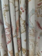 3 pairs of Mulberry Home Early Bird interlined curtains