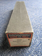 PIANOLA SCROLL BROADWAY WORD ROLL GALWAY BAY   NO. 3061  ** MUST SEE **