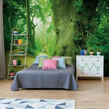 Bedroom wallpaper mural 100x72 inch photo wall decor Green English Forest trees