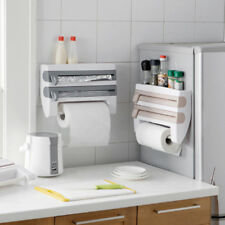 Kitchen Roll Dispenser Cling Film Tin Foil Paper Towel Holder Rack Wall Mount NB