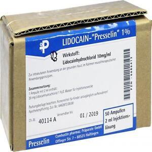 LIDOCAIN Presselin 1% Injektionslösung 50X2 ml PZN 6686412