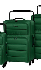 IT Luggage World's Lightest Spinner With Quilted Front Panel Pine Green Medium