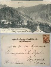 1900ca VALDIERI VALLE GESSO CUNEO PANORAMA cartolina animata viaggiata rara