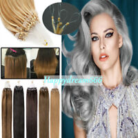 Micro Ring Bead Loop Tip Brazilian Remy Human Hair Extensions Highlight Ombre 7A