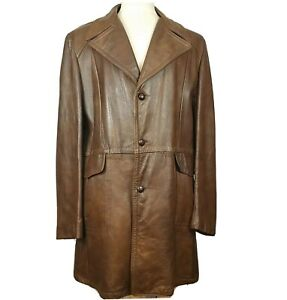 Vintage 70s Reed Sportswear Brown Soft Leather Jacket Coat L XL 44 L Fight Club