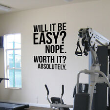 Exercise Motivational Quotes Fitness Gym Inspirational Quotes Fitness Wall Decal