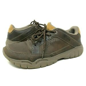 Crocs Swiftwater Hiking Sneakers Brown Lace Up Shoes Leather Mens Size 8 203392