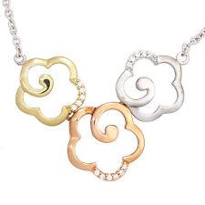 Reinheit SI Gute Echte Diamanten-Halsketten & -Anhänger aus mehrfarbigem Gold mit Brilliantschliff