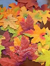 200 Artificial Maple Fall  Autumn Leaves Mix Colors  Sizes Thanksgiving Decor
