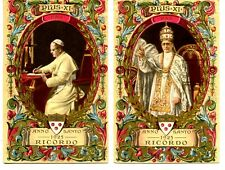 Pope Pius XI Religious Figure-Sent by Monsignor-Vintage 1925 Postcard Lot of 2