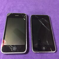 Apple Iphone 1303 32GB & Older Ipod 8 GB Lot Working ( For Parts & Repair )