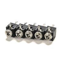 New 5Pcs PCB Panel Mount 3.5mm Female Earphone Jack Socket Connector Black~JG
