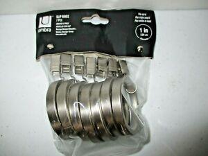 Umbra 1 inch Diameter Clip Rings in Silver, Set of 7