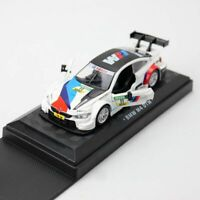 1:44 BMW M4 DTM V8 Racing Model Car Diecast Gift Toy Vehicle Pull Back White Kid