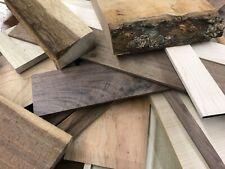 Wood Scraps Veneer.Strips.Huge Variety Walnut Cherry Maple Teak Exotic Figure Sm