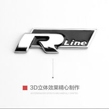 Car Auto Black R-line Metal 3D Front Hood Side TAIL Emblem Badge Decal Sticker