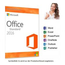 MS Microsoft Office 2016 Standard ✔ Vollversion 32/64-Bit ✔✔✔ Kein ABO ✔✔✔✔ 04