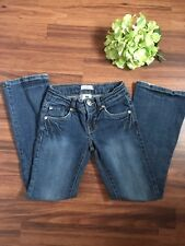 Girls Levis Size 8 Boot-cut/ flare blue denim Jeans with Rhinestones/Crystals