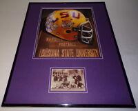 LSU Tigers Football Framed 16x20 Photo & 1896 Team Postcard Display