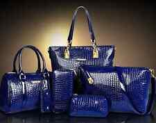NEW 6PCS set Women Handbag Noble Shoulder Bags Totes Messenger Bag Purse Leather